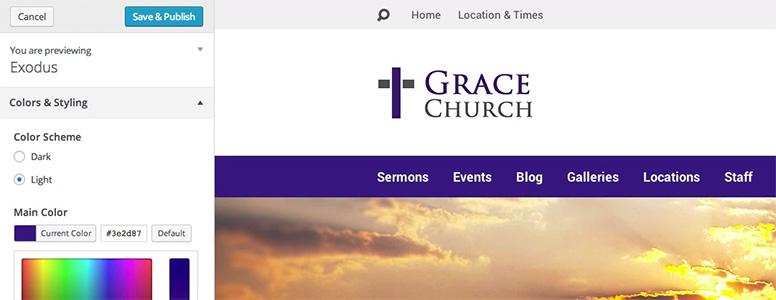 Church Website Design Customization
