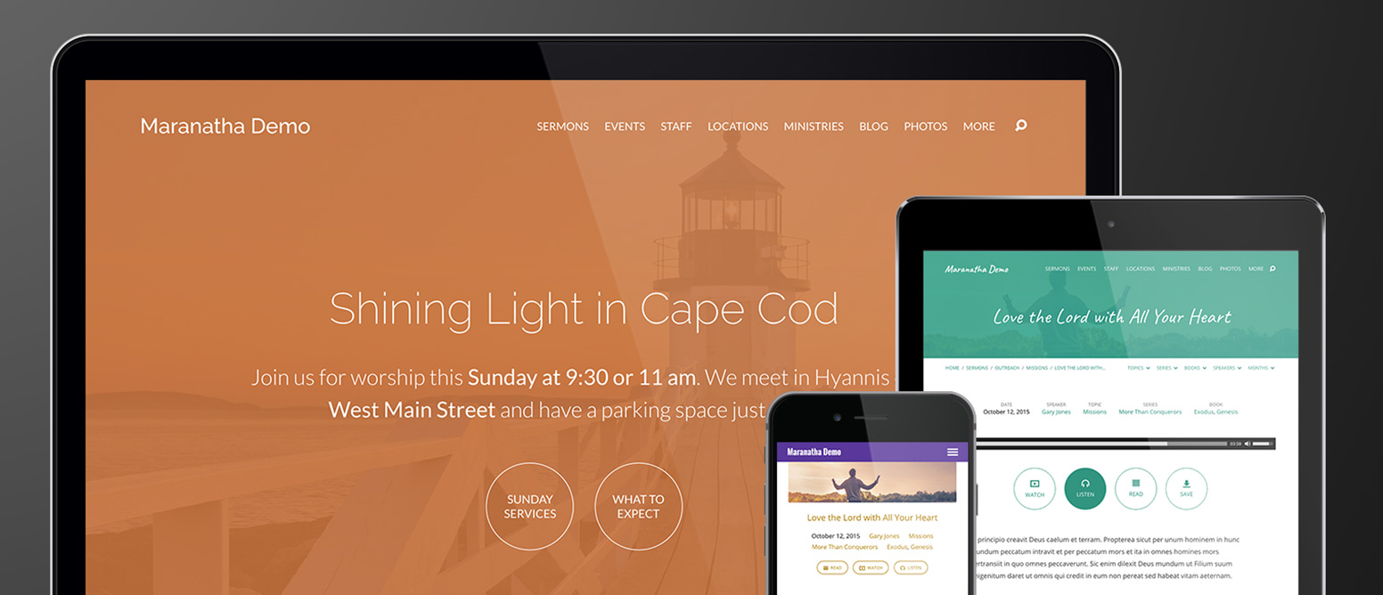 Maranatha Church WordPress Theme