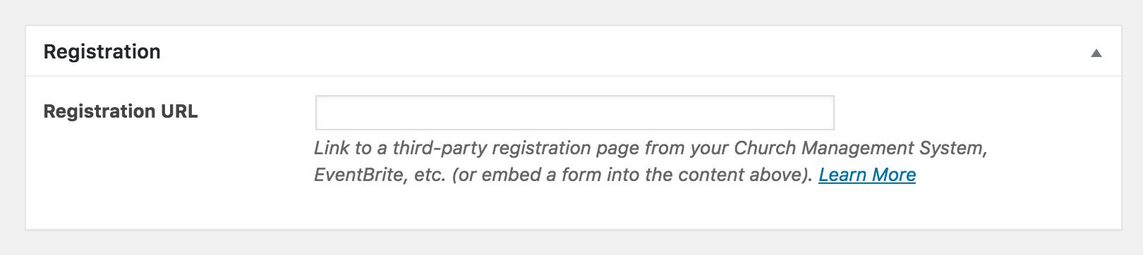 Event Registration URL