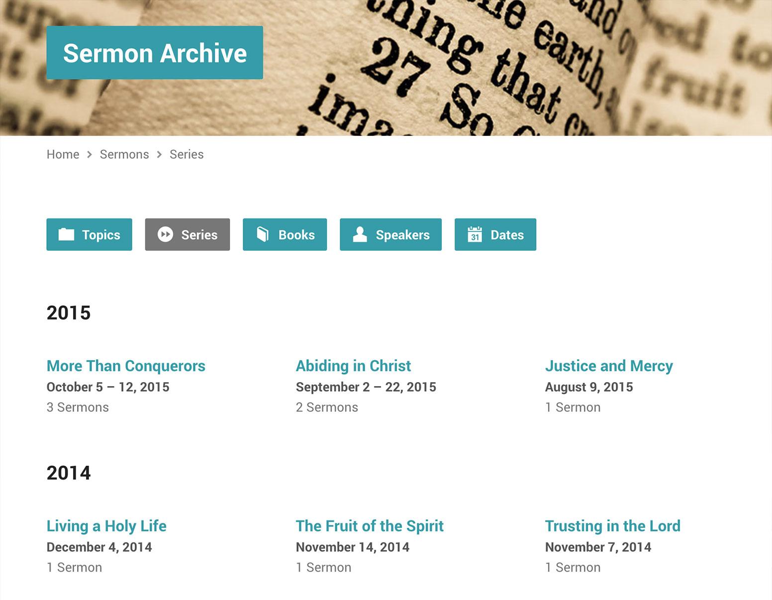 Exodus Sermon Series Template
