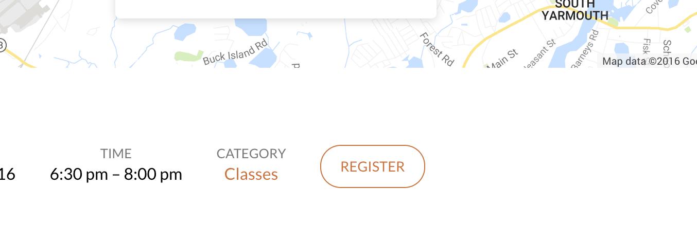 Event registration button in Maranatha theme