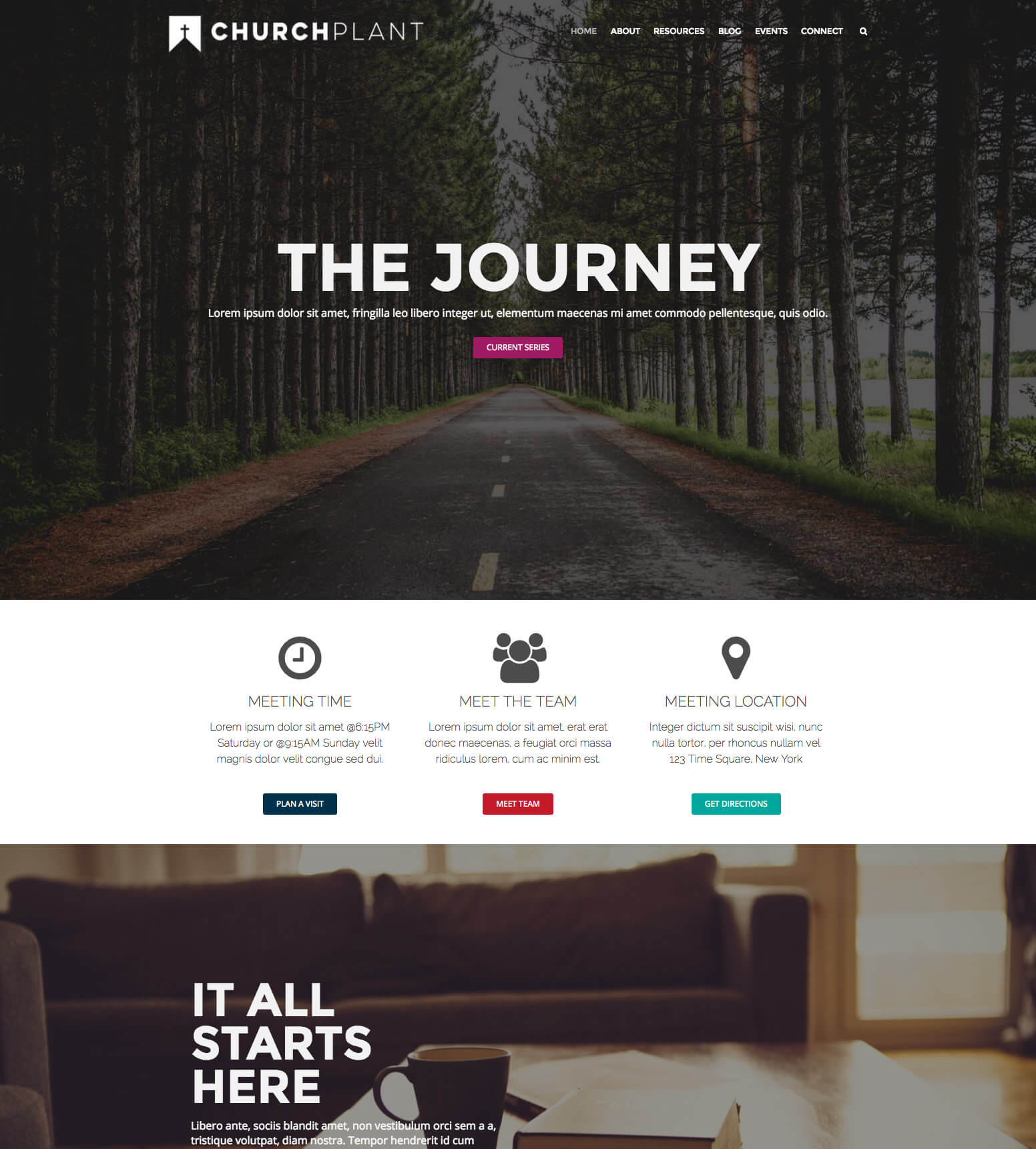 Church Plant WordPress Theme and Plugin Bundle