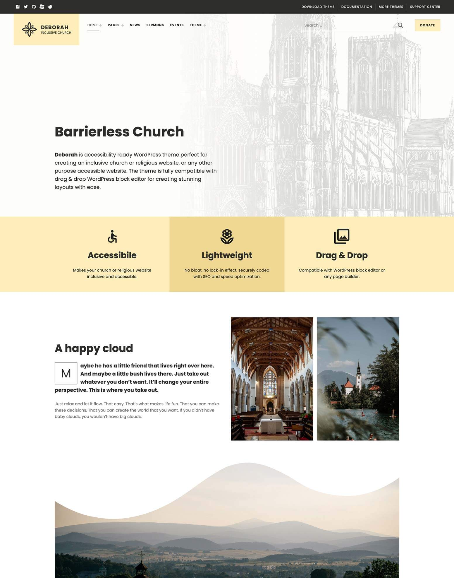 Deborah Church Theme for WordPress