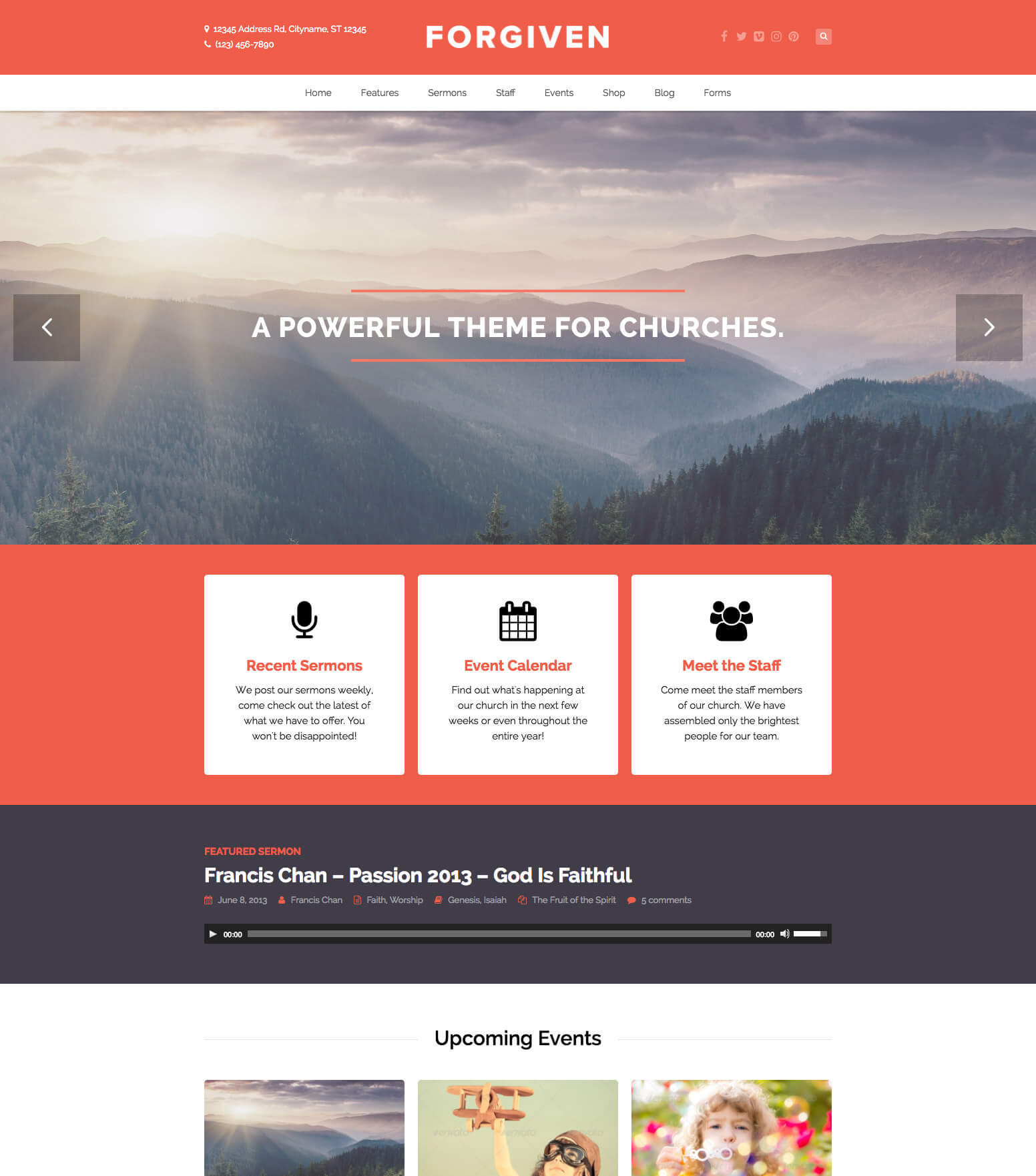 Forgiven Church WordPress Theme