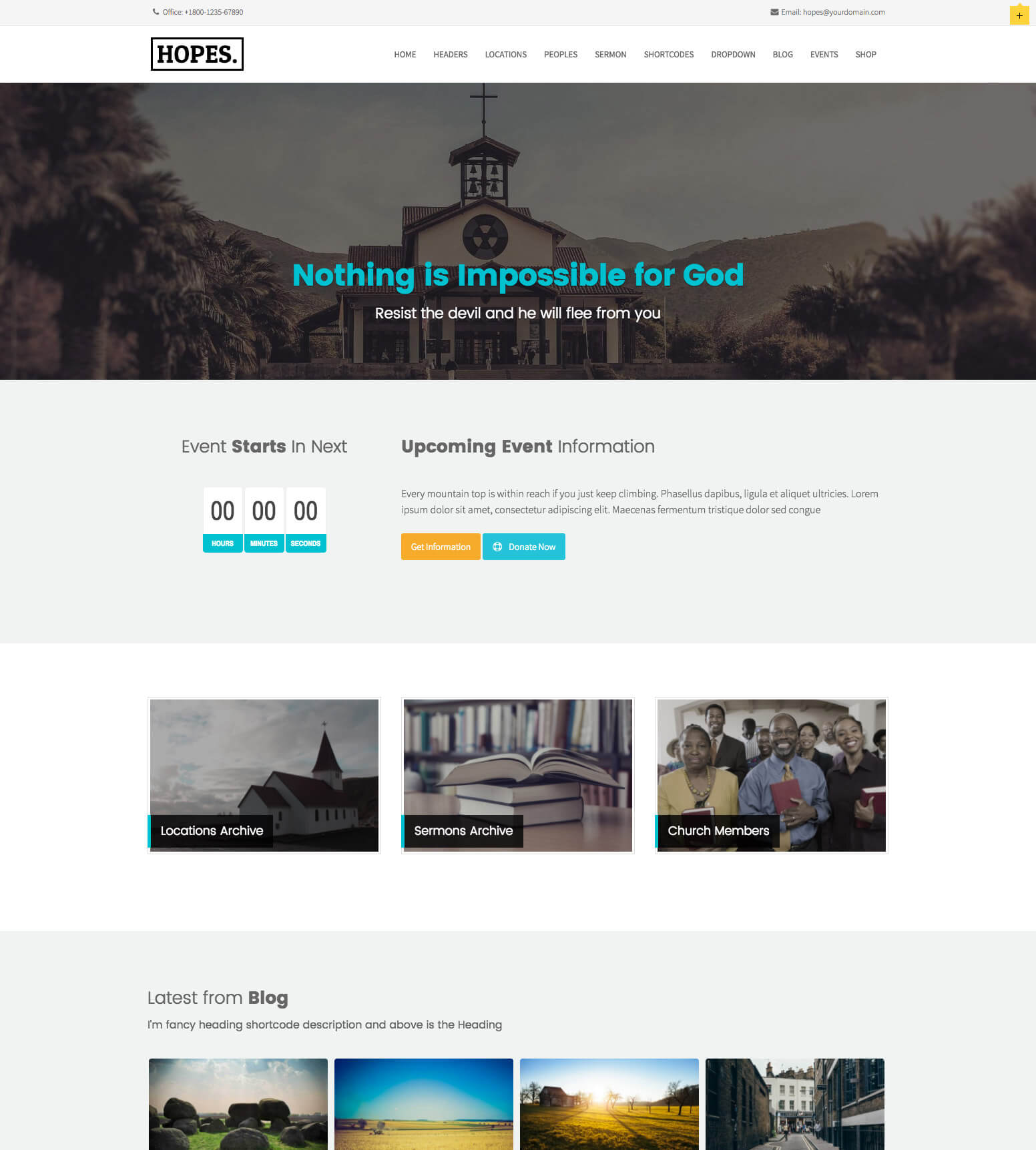 Hopes Church WordPress Theme
