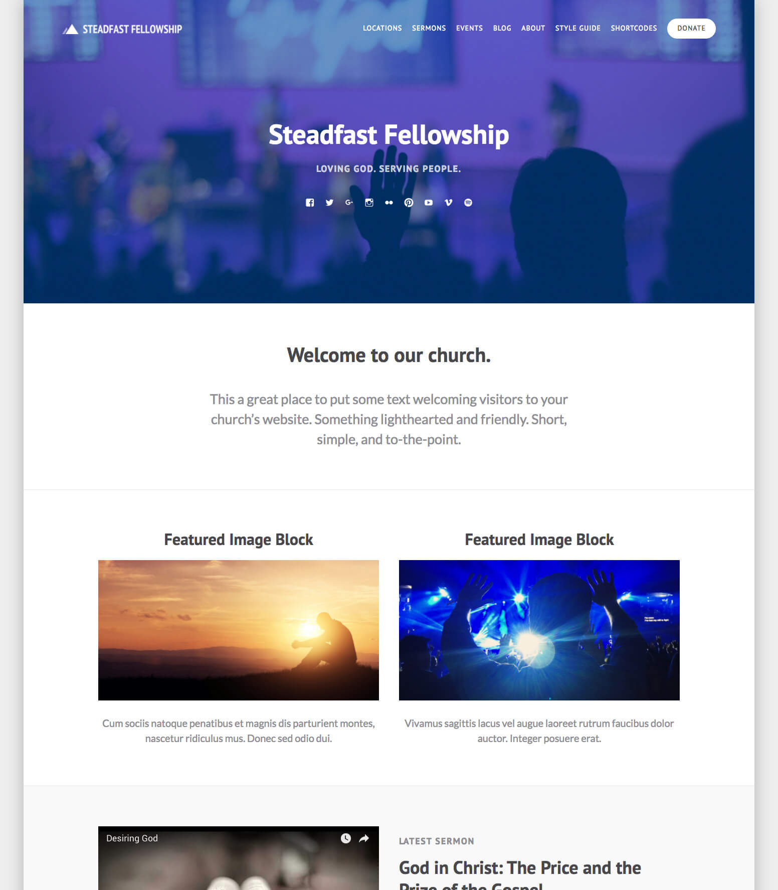 Steadfast Church WordPress Theme