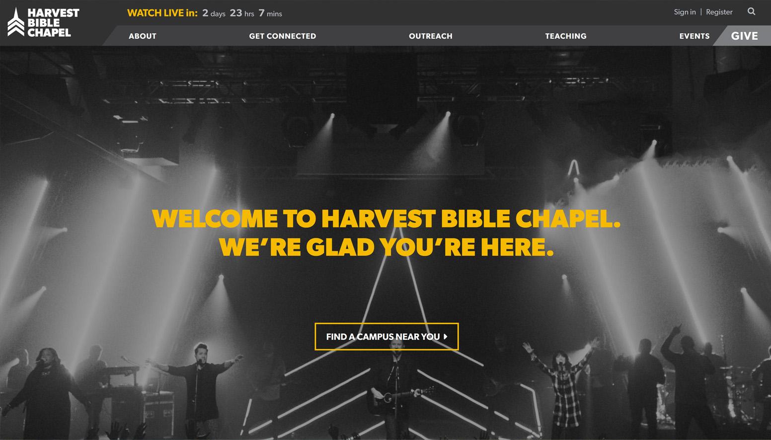 Harvest Bible Chapel Website