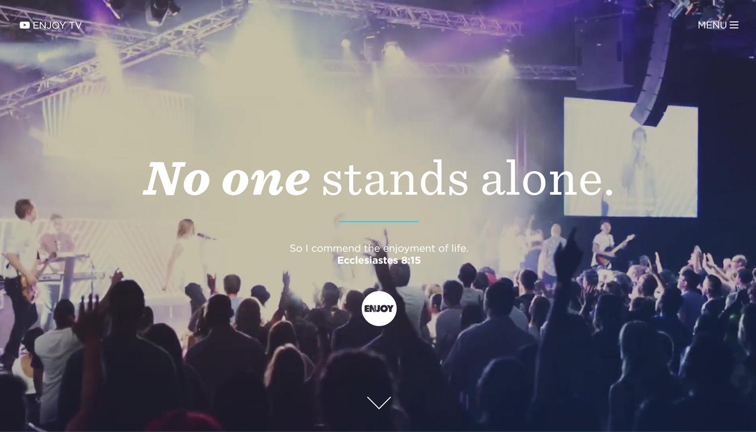 Enjoy Church Website Example