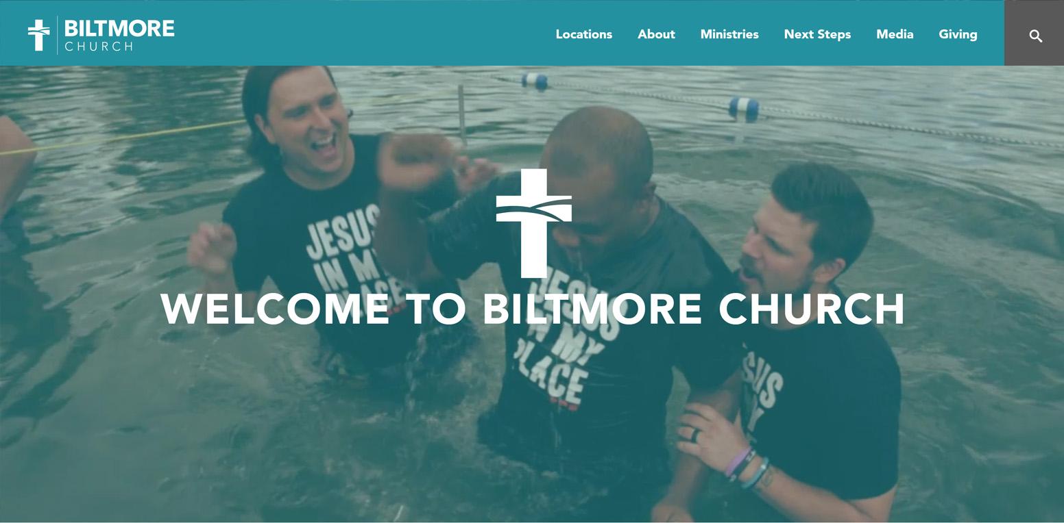 Biltmore Church Website Screenshot