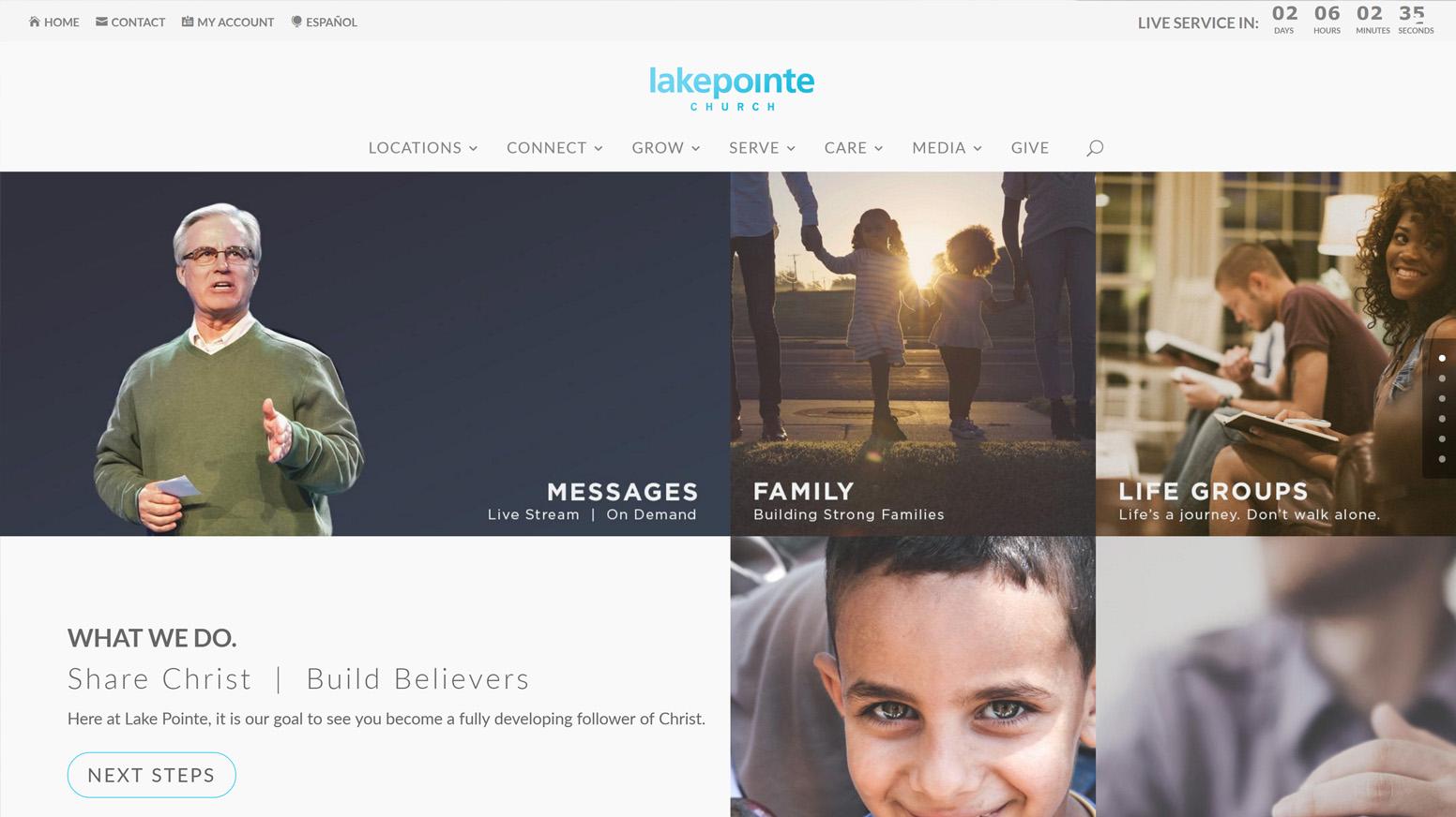 Lake Pointe Church Website