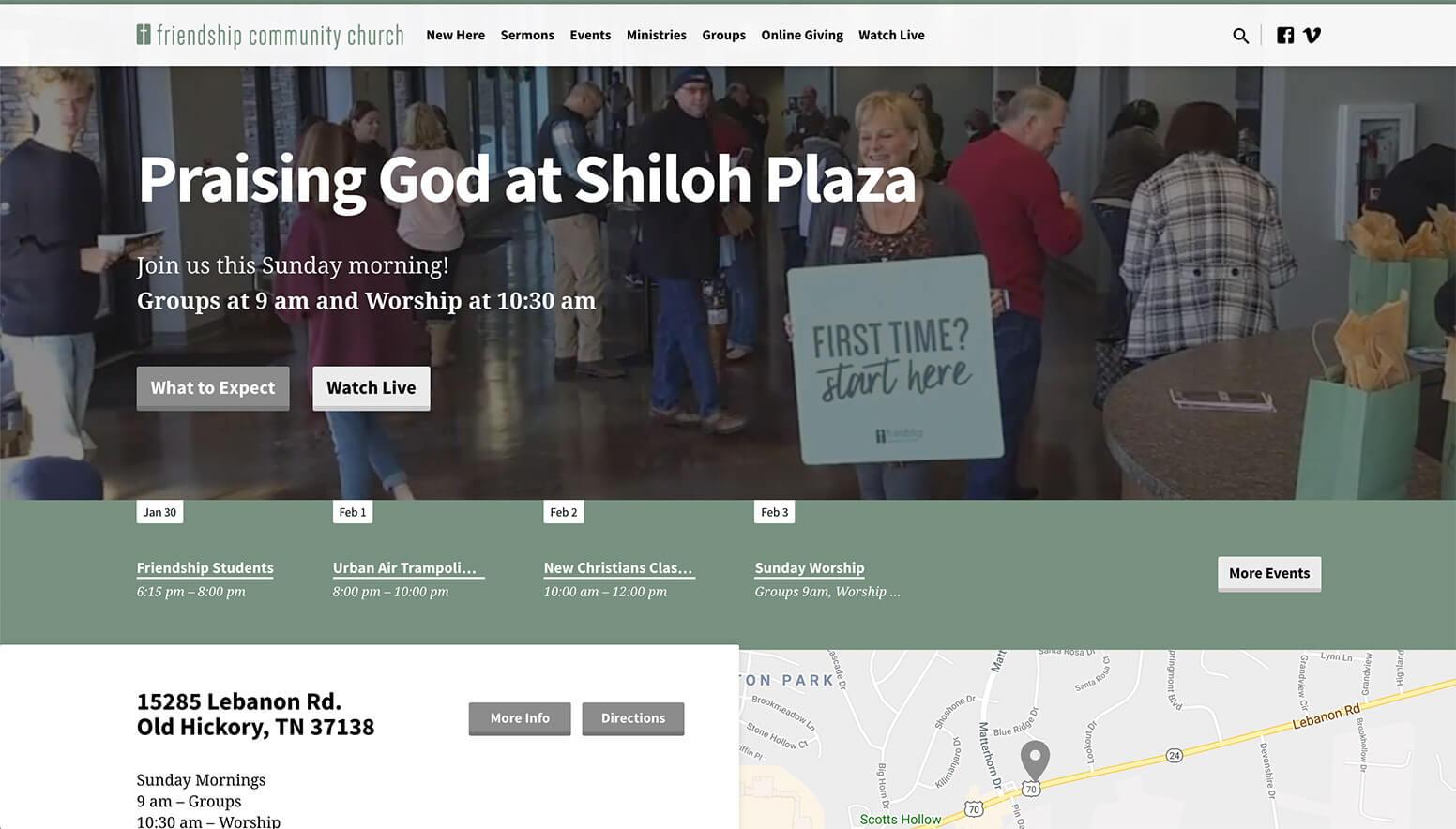 Friendship Church Website