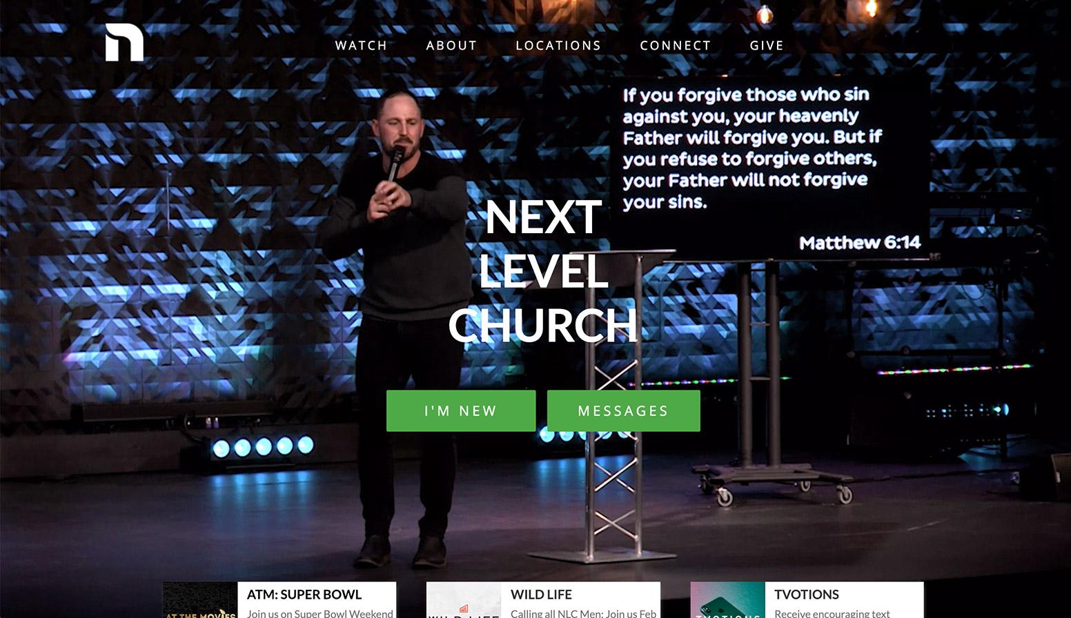 Next Level Church Website