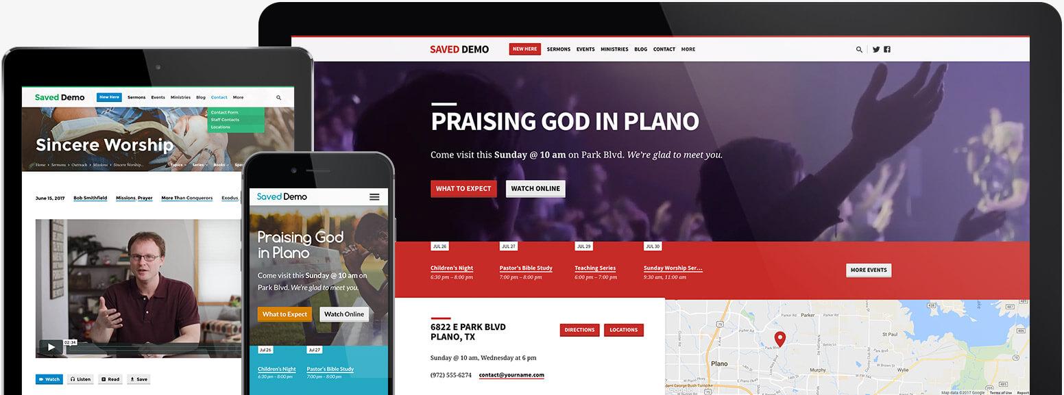 Saved Church WordPress Theme