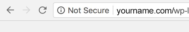 HTTPS Not Secure WordPress Login