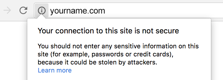HTTPS Warning