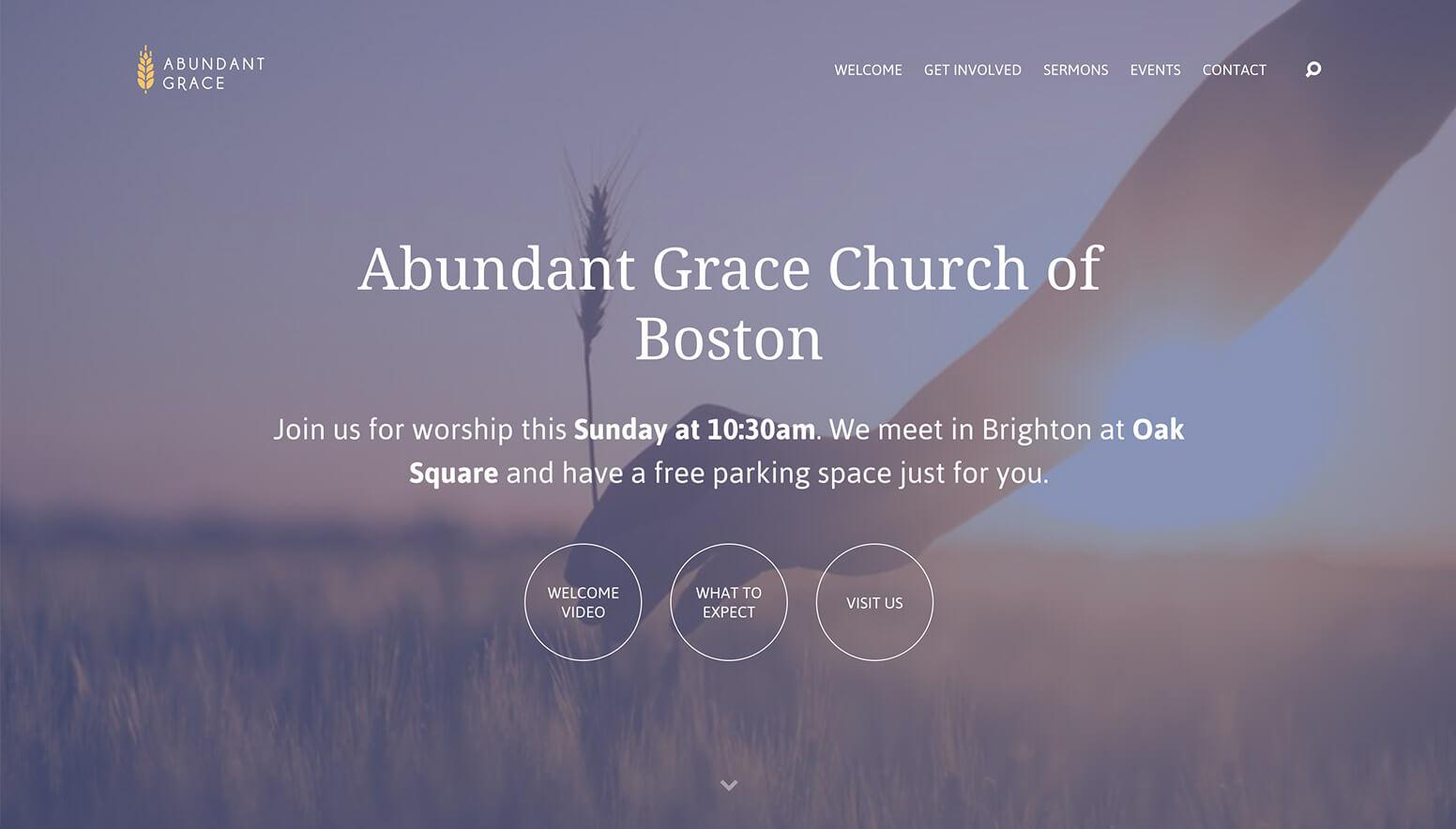 Abundant Grace Church Website