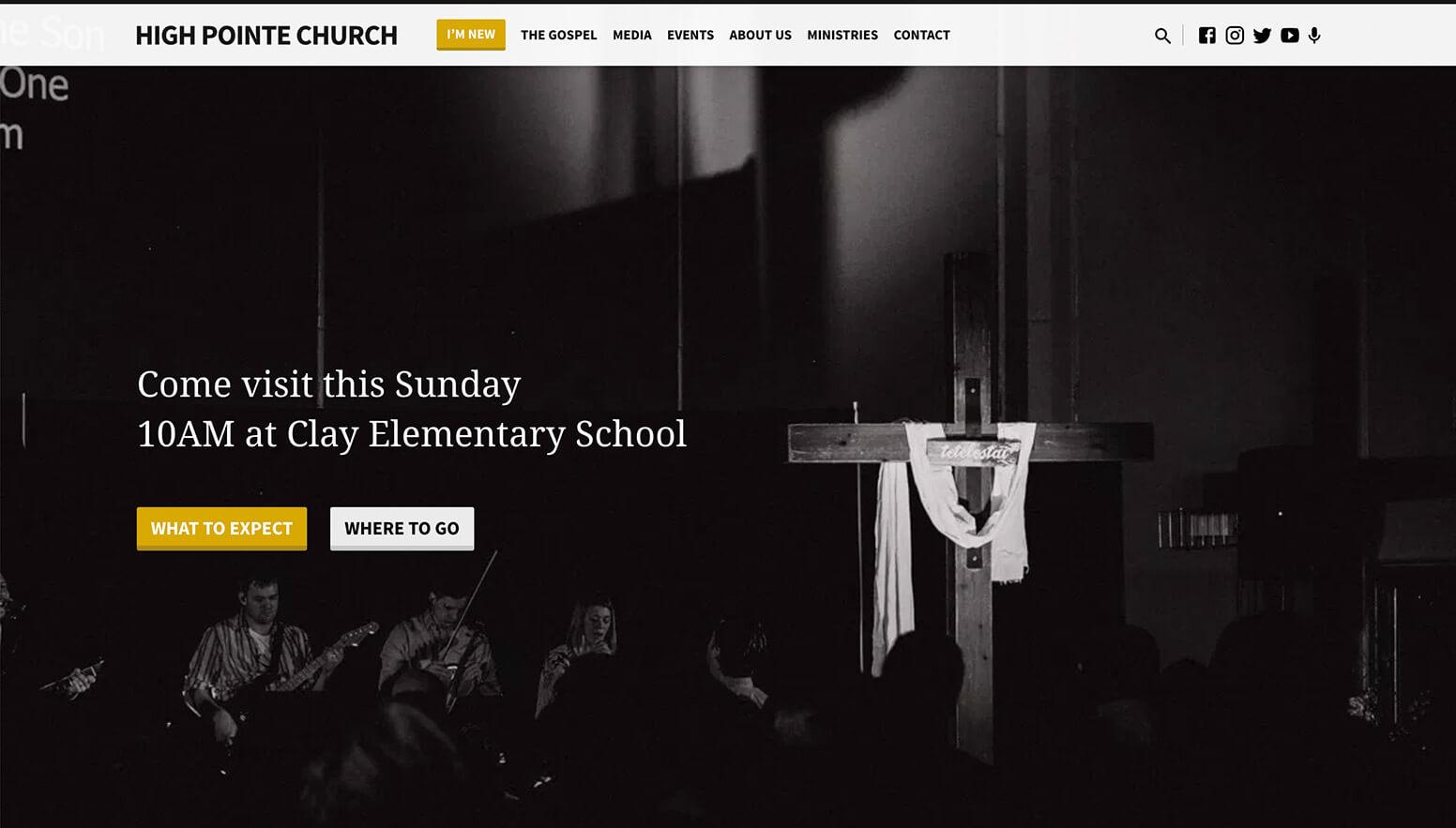 High Pointe Church Website