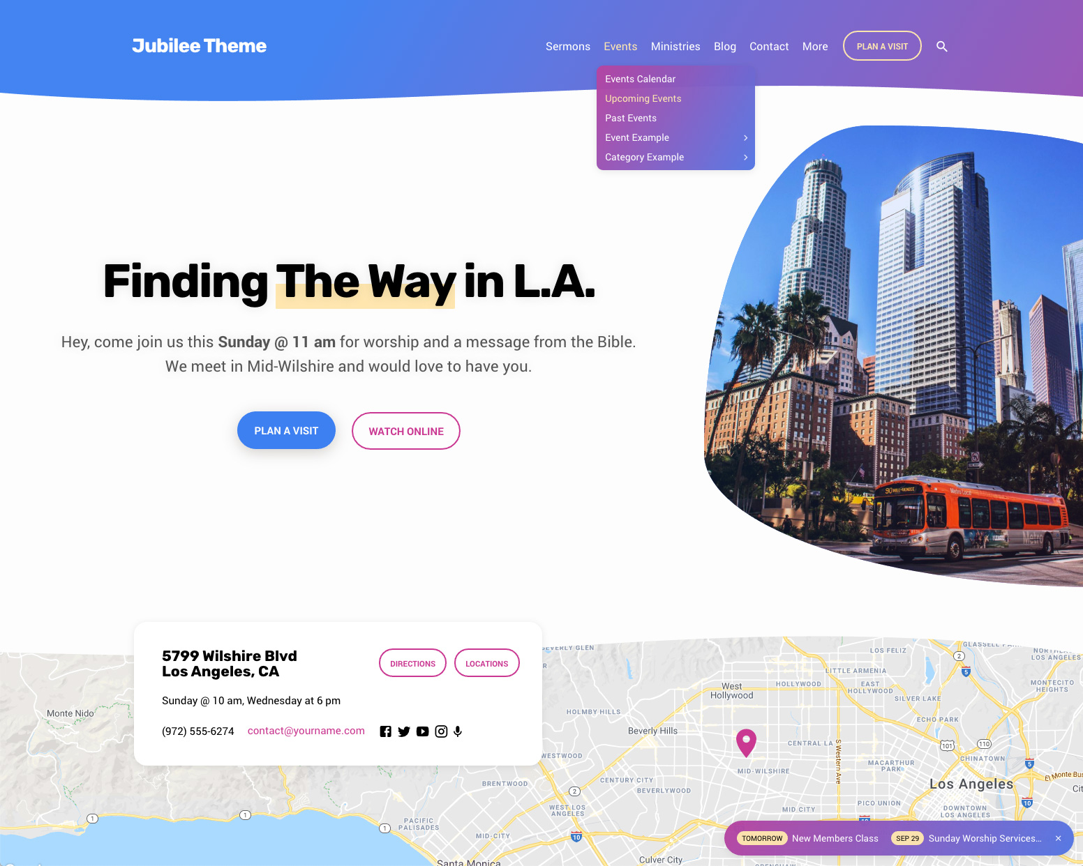 Jubilee Church WordPress Theme Preview