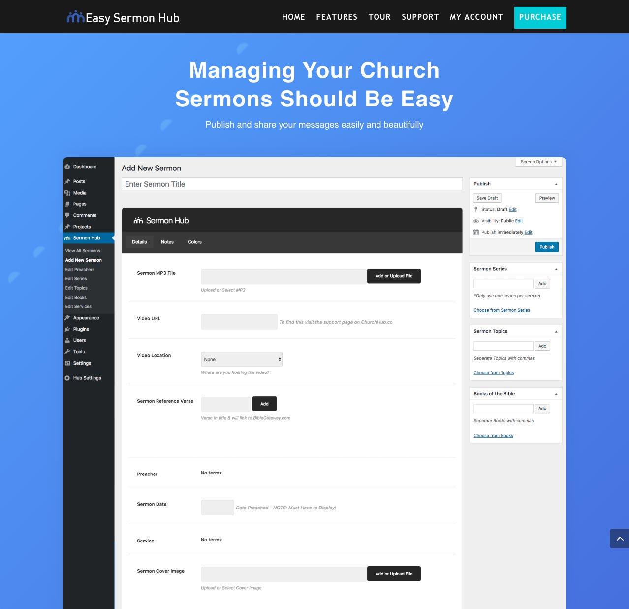 Easy Sermon Hub WordPress Plugin