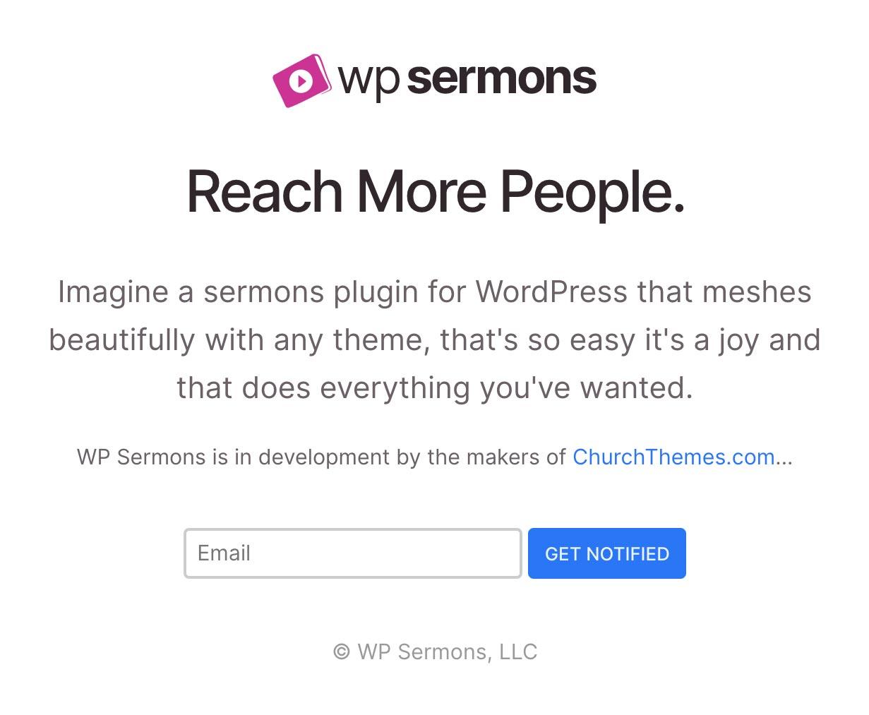 WP Sermons WordPress Plugin Screenshot