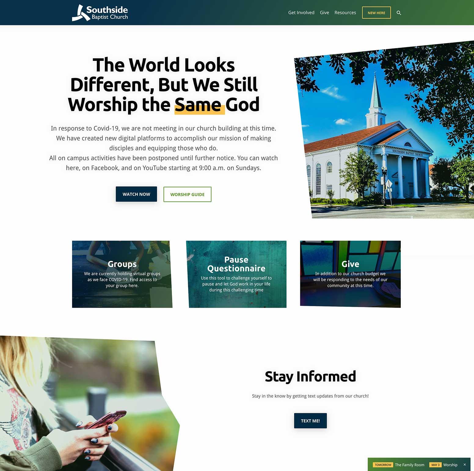 Southside Baptist Church Website