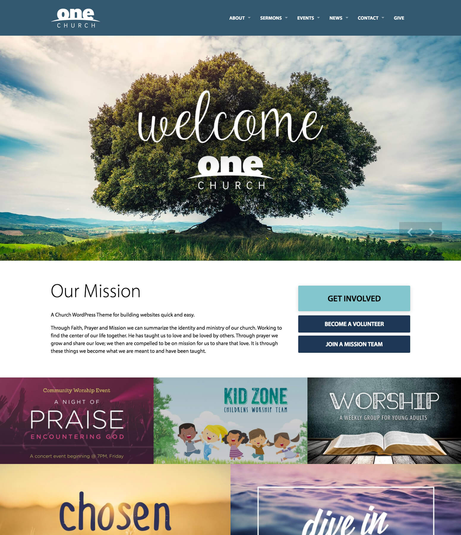 One Church WordPress Theme