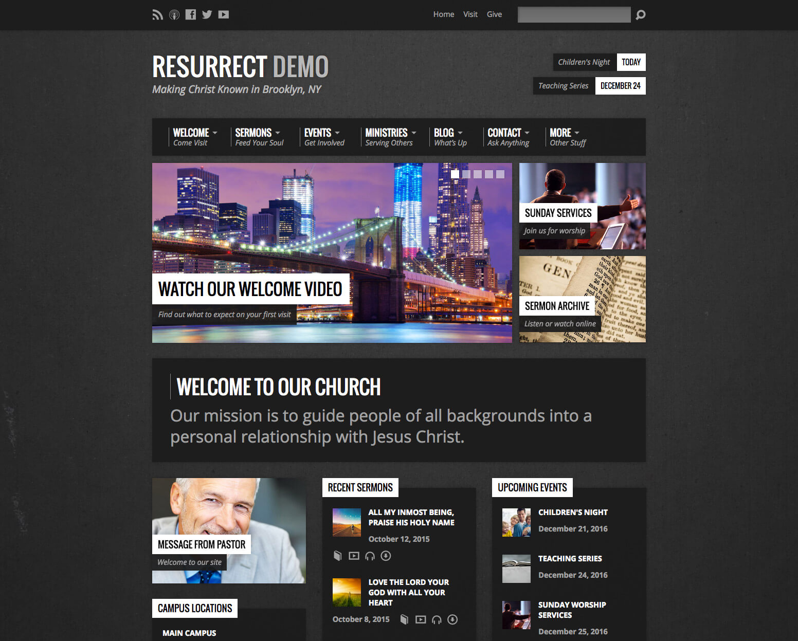 Resurrect Church WordPress Theme